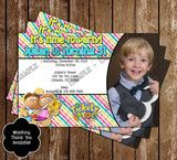 Tickety Toc Birthday Party Invitation with Photo