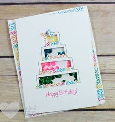 Create an adorable shaker card using the shake and celebrate stamp set and…