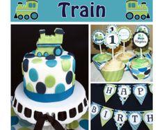DIY Train Birthday Collection Deluxe PRINTABLE