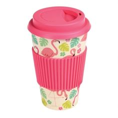 The Flamingo Bay Bamboo Travel Mug by Rex London is perfect for your daily commute. The eco-friendly travel mug is made from bamboo fibres and comes Cute Coffee Travel Mugs, Camping Coffee, Soup Mugs, Tea Mugs, Cafe To Go Becher, Cappuccino Coffee, Coffee Cups, Kaffee To Go, Insulated Mugs
