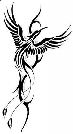 Tribal phoenix tattoo | so many ideas... so little skin | Pinterest