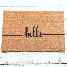 ☺Hello Doormat ❶Details ○ Coir fiber rug with a latex bottom backing (to prevent slipping) ○ Super heavy duty construction & made with quality