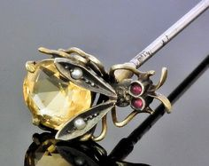 Antique Bee Hat Pin  The Canterbury Auction Galleries