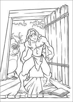 Tarzan Målarbilder för barn. Teckningar online till skriv ut. Nº 4