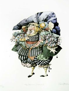 French Clown (watercolor)