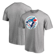 Toronto Blue Jays Fanatics Branded Cooperstown Collection Huntington T-Shirt - Ash