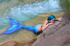 neon aqua mermaid tail
