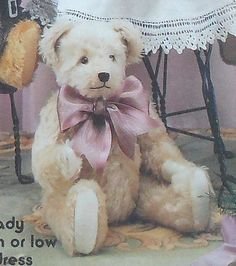 Jointed Teddy Bear and Clothing Sewing Pattern