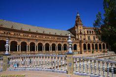 Place d'Espagne - Seville - Andalousie - Espagne