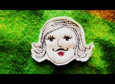 a little vintage doll: Drawing with your sewing machine.