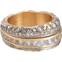 Moonstone Diamond Deco Roman Ring / Nak Armstrong