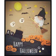 #Halloween#ハロウィン#仮装#かぼちゃ#おばけ#寝相#寝相アート#寝相アートもどき#親バカ#親の自己満#baby#7ヶ月#kids_japan