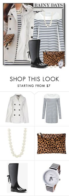 """""""Rainy Days in Pearls Will Never Get You Down!"""" by brendariley-1 ❤ liked on Polyvore featuring EA7 Emporio Armani, Oui, Kenneth Jay Lane, Clare V., MICHAEL Michael Kors and Blue Nile"""