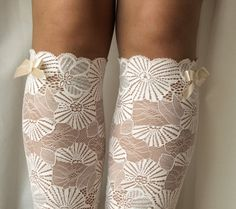 Lace Boot Cuff Socks, Pastel Pink with Silver thread lace - boot topper - wellies boot cuff , lace leg warmers / READY TO SHIP