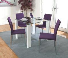 3 purple dining room purple