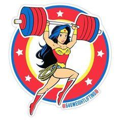 Weightlifting Wonder Woman Sticker