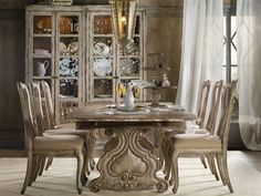 Hooker Furniture Chatelet Dining Room Set  luxedecor.com