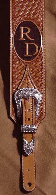 Custom Western Guitar Straps Back strap adjustment end