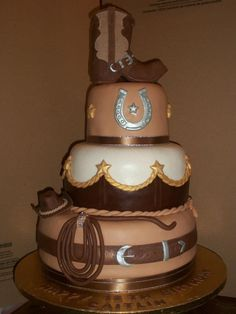 western themed wedding cakes pictures cowboy western birthday cakes photo johns 70th western 27019
