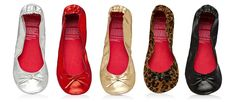 get two pairs of rollable flats (actual value $40) for $24 from flat out! - Great for traveling with!