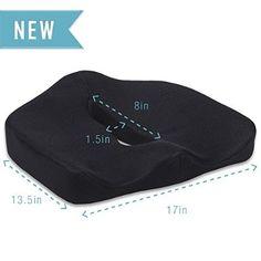 Seat Cushion - Car Seat Cushion - Chair Cushion - Sciatica Cushion - Prostate Cushion - Hemorrhoid Cushion- Low Back Pain Cushion - Tailbone Cushion - Coccyx Cushion - Patent Pending