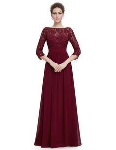 Ever Pretty Women's Lace Long Sleeve Floor Length Evening Dress 08412 ^^ Additional info  : Women's dresses