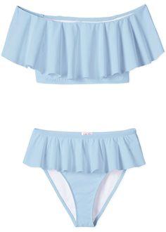 Perfect blue bikini for girls in best selling cut and made from high quality fabrics. Panty Design, Blue Drapes, Swimsuits, Bikinis, Swimwear, Beach Cover Ups, Girls Bathing Suits, Cute Cuts, Blue Bikini