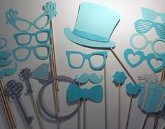 Breakfast at Tiffany's Collection - Beautiful Handcrafted Photo Booth Props. $50.00, via Etsy.