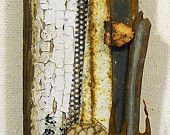 Canyon: found object assemblage at Etsy