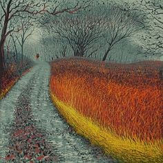 Mark A. Pearce - Following Mum and Dad - Reduction Linocut