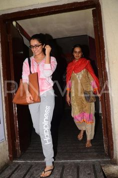 Papped! Shraddha Kapoor watches Dangal with mother Shivangi Kapoor!