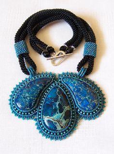 Verklaring kralen Bead Embroidery hanger ketting met door lutita
