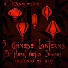 Chinese Lanterns Vector Shapes