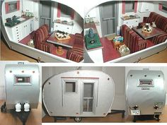 Ideas for doll house trailer.  airstream miniature