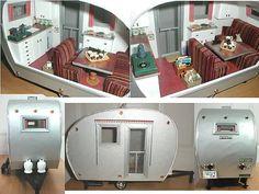 Ideas para remolques (caravanas) en miniatura   -   Ideas for doll house trailer. airstream miniature