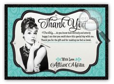 Breakfast at Tiffany's Bridal Shower Thank You Card
