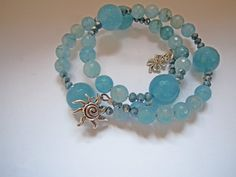 Bracelet with angelite and charms by ilfiorecreativo on Etsy