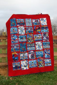 Are you ready for this? I've received more compliments on this ... : superhero quilts - Adamdwight.com