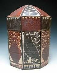 Image result for sgraffito box ceramic art