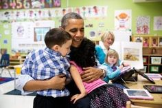 Early Head Start, Head Start, and child care programs can play a vital role in making sure people learn how to get coverage and how to get h... Barack Obama, Obama With Kids, Presidente Obama, Kid President, Obama President, Barack And Michelle, American Presidents, American History, Early Childhood