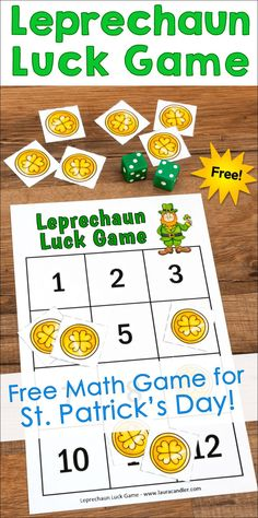 Leprechaun Luck Game is just one of 20 FREE math resources in the March Math Toolbox! Be sure to grab this entire collection of math lessons, games, activities, and resources while it's free! Holiday Activities, Math Activities, Fun Math, Free Math Games, Teaching Resources, Teaching Ideas, Classroom Resources, Preschool Ideas, Classroom Ideas