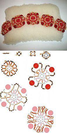 Bead Bracelet scheme, bracelet square motifs | Laboratory household
