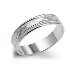 Men S 14k White Gold 5mm Comfort Fit Plain Wedding Band Choose A