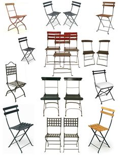 French Cafe & Garden Folding Chairs