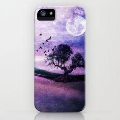 Purple landscape iPhone Case by Viviana González - $35.00