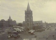 Nagmaal, Kerkplein, 1900 Pretoria, African History, Family History, Barcelona Cathedral, South Africa, Landscape Photography, Photographs, Trees, Christian