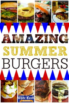 Lots of great Summer burger recipes to get your grill on. :)