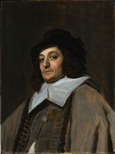 A brilliant small portrait by Frans Hals of an anonymous traveler. Painted very fast, wet-in-wet.