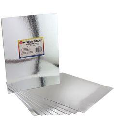 "Mirror Sheets 8-1/2""X11"" 10/Pkg-Silver ~ $6.59 at joannfabricandcraftstore.com"
