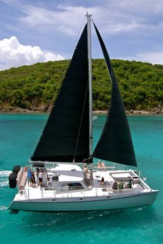 Sailing the turquoise-blue waters of St. John